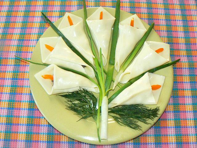 каллы из сыра